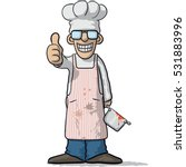 smiling chef with thumb up | Shutterstock .eps vector #531883996