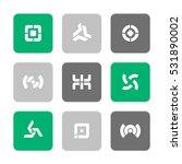 vector flat icons set  ...   Shutterstock .eps vector #531890002