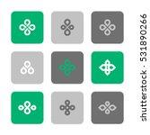 vector flat icons set   plant...   Shutterstock .eps vector #531890266