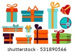 gift boxes cartoon set with... | Shutterstock .eps vector #531890566