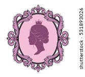 elegance pink purple cameo with ... | Shutterstock .eps vector #531893026
