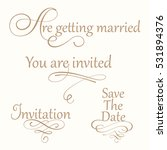set collection of wedding... | Shutterstock .eps vector #531894376