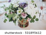 bouquet of flowers and greenery ... | Shutterstock . vector #531895612