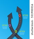 template two crossed road... | Shutterstock .eps vector #531900316