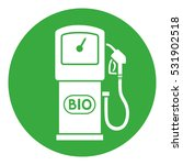 green bio fuel station pump... | Shutterstock .eps vector #531902518