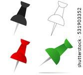 stationery pushpin  pushpin... | Shutterstock .eps vector #531903352
