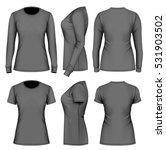 women's t shirts long and short ... | Shutterstock .eps vector #531903502