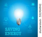 luminous bulb on blue luminous... | Shutterstock .eps vector #531904942
