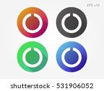 colored icon of open circle... | Shutterstock .eps vector #531906052