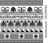 set of vector antique greek... | Shutterstock .eps vector #53190910