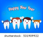 happy new year with cute... | Shutterstock .eps vector #531909922