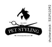 logo for pet hair salon ...   Shutterstock .eps vector #531911092