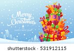 christmas greeting card. merry... | Shutterstock .eps vector #531912115