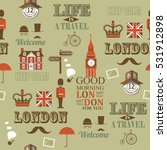 grey london newspaper seamless... | Shutterstock .eps vector #531912898