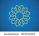 geometric arabic pattern on blue | Shutterstock .eps vector #531914455