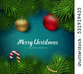vector merry christmas and...   Shutterstock .eps vector #531919435