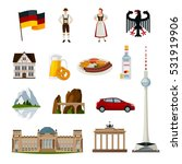 germany flat icons collection... | Shutterstock .eps vector #531919906