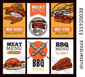 meat dishes vertical banners... | Shutterstock .eps vector #531920038