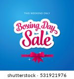 boxing day sale banner | Shutterstock .eps vector #531921976