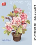 invitation vintage postcard... | Shutterstock .eps vector #531926395
