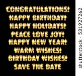 holiday greetings written in... | Shutterstock .eps vector #531927262