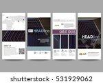 flyers set  modern banners.... | Shutterstock .eps vector #531929062