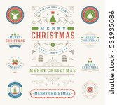 christmas labels and badges... | Shutterstock .eps vector #531935086