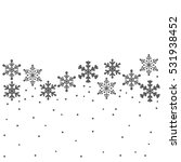 falling snowflakes background | Shutterstock .eps vector #531938452