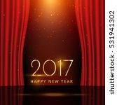 golden 2017 new year wish on...   Shutterstock .eps vector #531941302