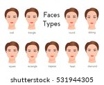 set of different woman face... | Shutterstock .eps vector #531944305