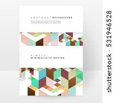 geometric background template... | Shutterstock .eps vector #531946528