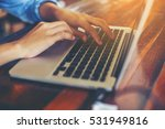 hand control on a laptop touch | Shutterstock . vector #531949816
