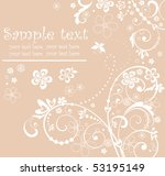 greeting pastel card | Shutterstock .eps vector #53195149
