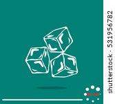 ice cubes symbol | Shutterstock .eps vector #531956782