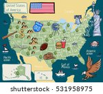 cartoon map of united states of ...   Shutterstock .eps vector #531958975