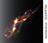 transparent color waves.... | Shutterstock .eps vector #531959782