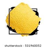 vector golden brush stroke for... | Shutterstock .eps vector #531960052