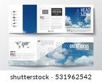 set of tri fold brochures ...   Shutterstock .eps vector #531962542