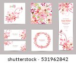 collection of greeting cards... | Shutterstock .eps vector #531962842