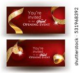 grand opening banners with gold ... | Shutterstock .eps vector #531968392