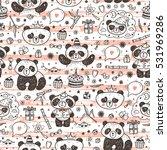 cute baby pandas vector... | Shutterstock .eps vector #531969286