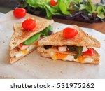 Fresh Sandwich With Boiled Egg...