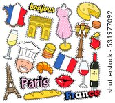 france travel scrapbook... | Shutterstock .eps vector #531977092