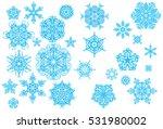 crystallized  ornate snowflakes ... | Shutterstock .eps vector #531980002