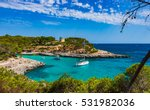 boats in a beautiful bay ... | Shutterstock . vector #531982036