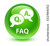 faq  question answer bubble... | Shutterstock . vector #531984052