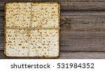 stack of matzah or matza on a... | Shutterstock . vector #531984352