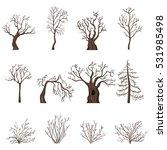 vector set of brown cartoon...   Shutterstock .eps vector #531985498