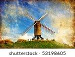 Old Windmill  Artistic Retro...