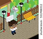 cartoon character life in front ... | Shutterstock . vector #531988312